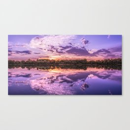 Purple Sunset Landscape Canvas Print