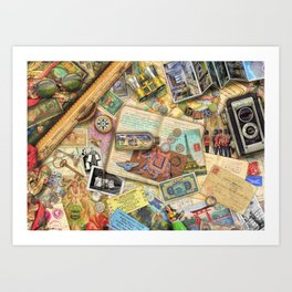 Vintage World Traveler Art Print