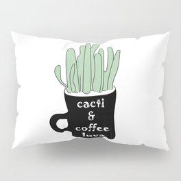 Cacti & Coffee LUVA - Digital Vector Illustration Home Goods Design Pillow Sham