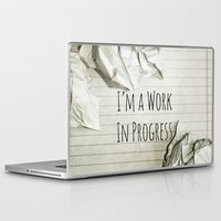decal Laptop & iPad Skins featuring I'm A Work In Progress by Charlene McCoy