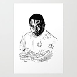 Rugby World Cup 2015 Portraits : Samoa - Anthony Perenise Art Print