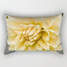 Muted Yellow Dahlia Rectangular Pillow