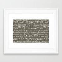math Framed Art Prints featuring Math by beach please
