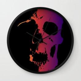 Sunset Skull v2 Wall Clock