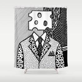 Roy Lichtenstein - Jobs... Not Cheese! Shower Curtain