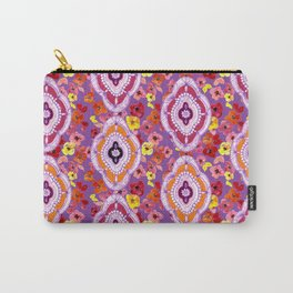 Pink, Orange, Purple Pattern Carry-All Pouch