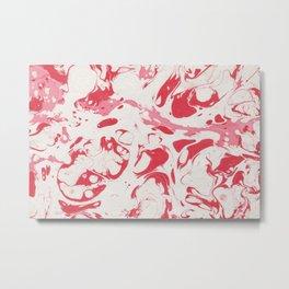 Red Bloody Watercolor paint Metal Print