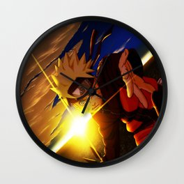 naruto spirit of fire Wall Clock