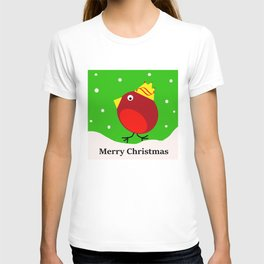 Merry Christmas Robin T-shirt
