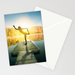 Yoga on the Lake Stationery Cards
