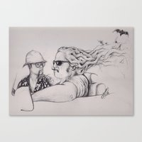 fear and loathing Canvas Prints featuring Fear and Loathing by Joe Cardoso