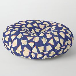 Color Pencil Shavings Pattern Floor Pillow