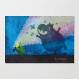 Little Hippo Canvas Print