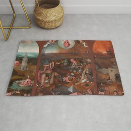 """Hieronymus Bosch """"The Last Judgment"""" triptych (Bruges) Rug"""