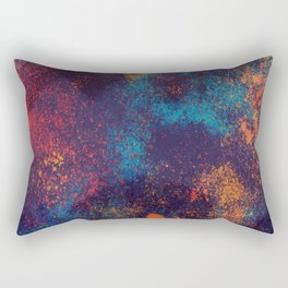 Watercolor stains bright background. Art hand painted splash. Rectangular Pillow