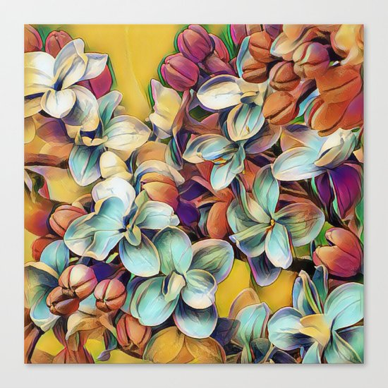 Painted Lilacs Canvas Print