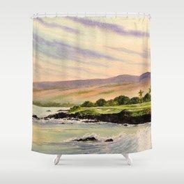 Mauna Kea Golf Course Hawaii Hole 3 Shower Curtain