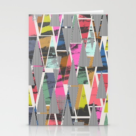 Triangles 21 Stationery Cards