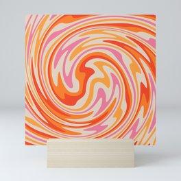 70s Retro Swirl Color Abstract Mini Art Print