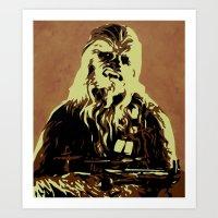 chewbacca Art Prints featuring Chewbacca by iankingart
