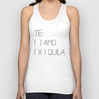 tequila Tank Tops featuring Tequila by Sara Eshak
