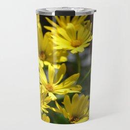 Delightful Little Yellow Daisies Travel Mug