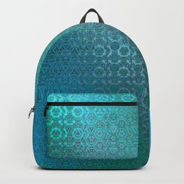 Trinity Pattern (ocean blues) Backpack