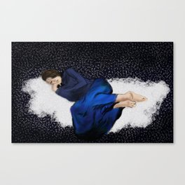 Sleeping in Space Canvas Print
