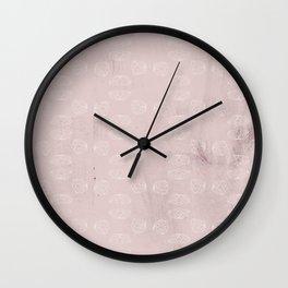 Elegant mauve pink burgundy white watercolor blossom pattern Wall Clock