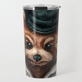 Cute Red Panda in Bowler hat Travel Mug