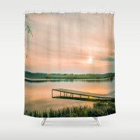 running Shower Curtains featuring Running clouds by Svetlana Korneliuk