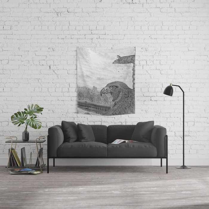 The Urban Peregrine Wall Tapestry