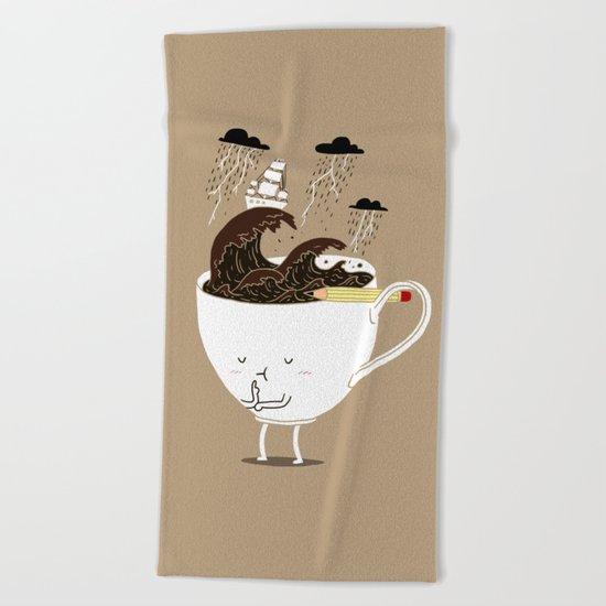 Brainstorming Coffee Beach Towel