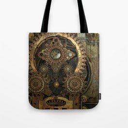 Rusty Vintage Steampunk Gears Tote Bag