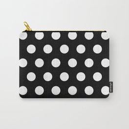 Black & White Polka Dots Carry-All Pouch