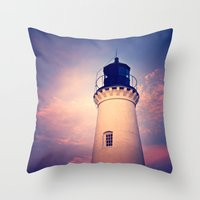 lighthouse Throw Pillows featuring Lighthouse by JMcCool