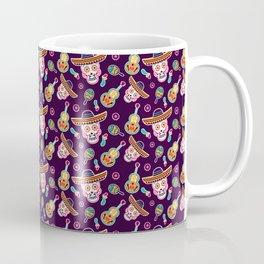 Mexican Sombrero Skull Pattern Gift Coffee Mug
