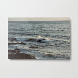 Small waves, seascape in Greece Metal Print