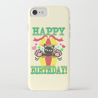 happy birthday iPhone & iPod Cases featuring Happy Birthday! by BATKEI