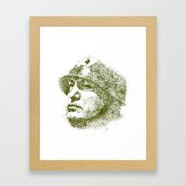 Mussolini For President Framed Art Print