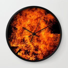 Burning Fire Wall Clock