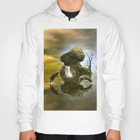 dolphins Hoodies featuring Playing dolphins  by nicky2342