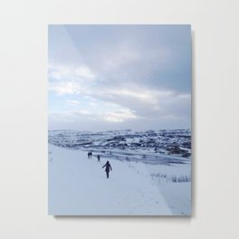 Walking down Iceland Metal Print