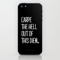 Carpe Diem ///www.pencilmeinstationery.com iPhone & iPod Skin