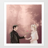 captain swan Art Prints featuring Captain Swan by The BMB