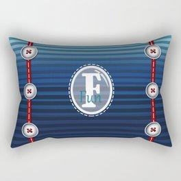 FUN•tastic Ocean ~ Colorful FUN & Friends Line Rectangular Pillow