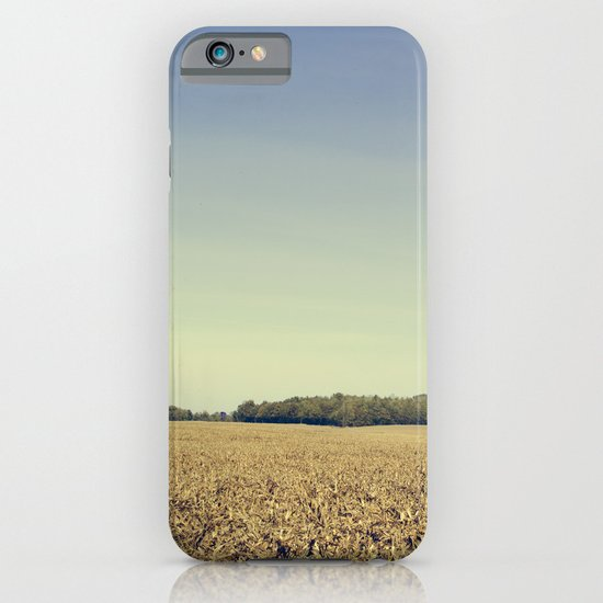 Lonely Field in Blue iPhone & iPod Case