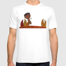 Africa White Mens Fitted Tee SMALL