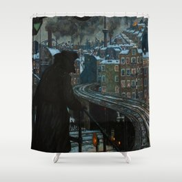 Working Class City By Hans Baluschek Shower Curtain