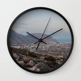Santorini Sunset-  Wall Clock